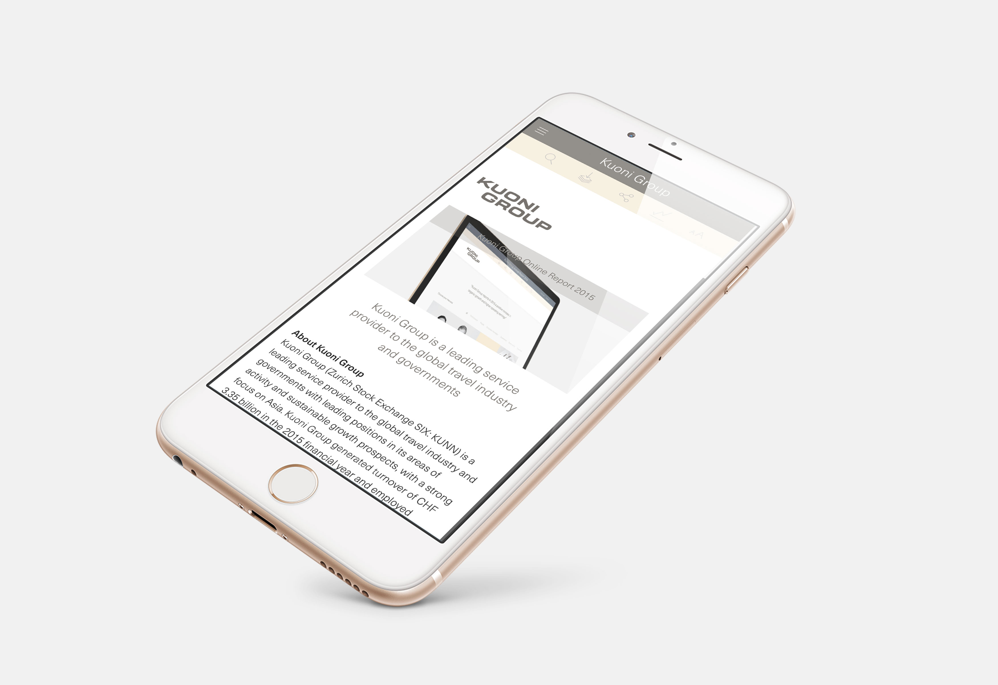 Online Report Graphic Design, Responsive Website