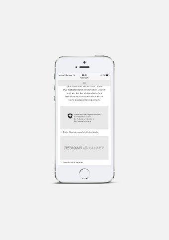 Responsive Webdesign FIDURIA Mobile NOORD