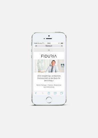 Responsive Webdesign FIDURIA Mobile Martin Flückiger
