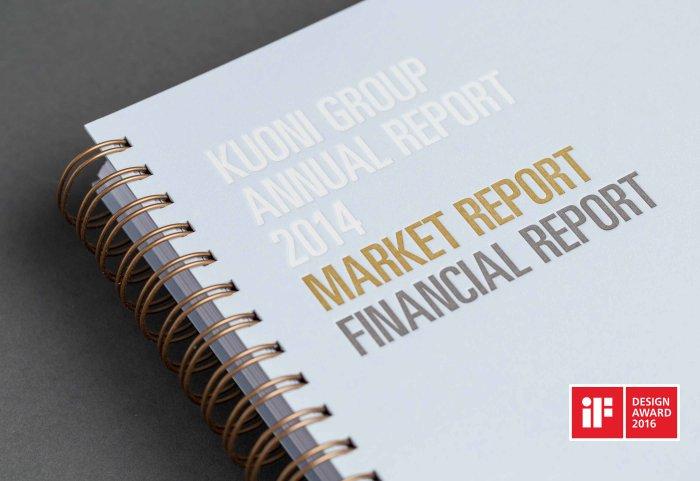 Kuoni Group Annual Report Geschäftsbericht Cover Letterpress