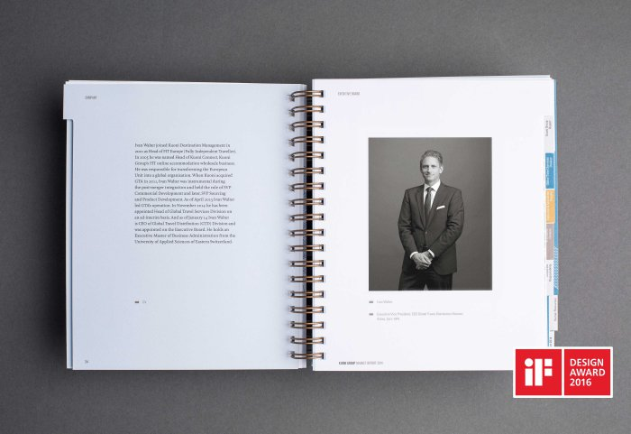 Kuoni Group Annual Report Geschäftsbericht Bildkonzept Ivan Walter