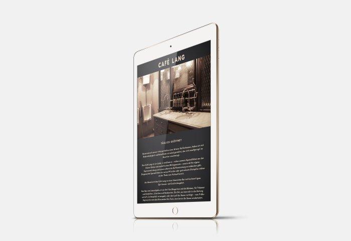 Café Lang Responsive Webdesign