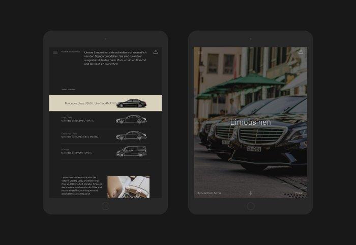 Dursun Limousine Webdesign Tablet