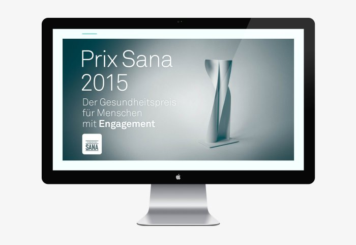 Fondation Sana Prix Sana Preisverleihung Power Point