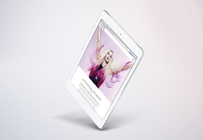 Hair Solutions Responsive Website Tablet