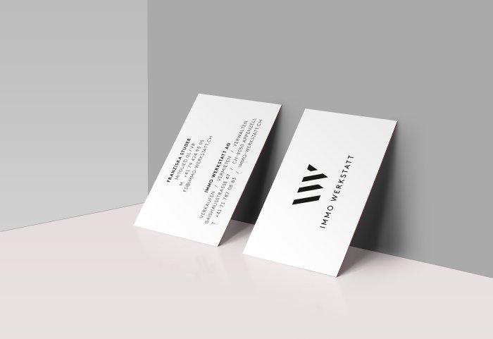 Immo Werkstatt Corporate Design Visitenkarte