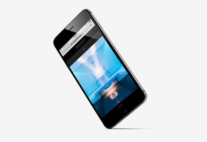 Responsive Webdesign INDIGO Fitness Club iPhone
