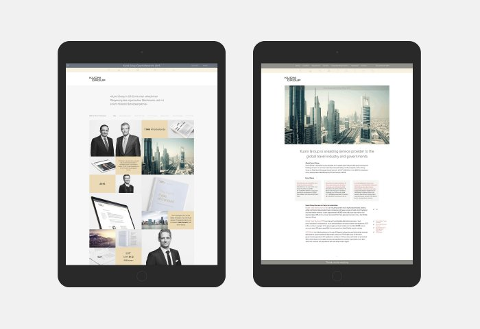 Kuoni Group Corporate Website vs Annual Report