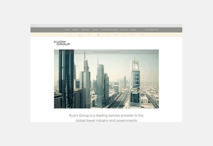 Kuoni Group Corporate Website