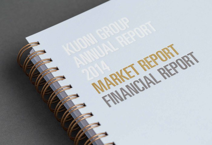 Kuoni Group Annual Report Design