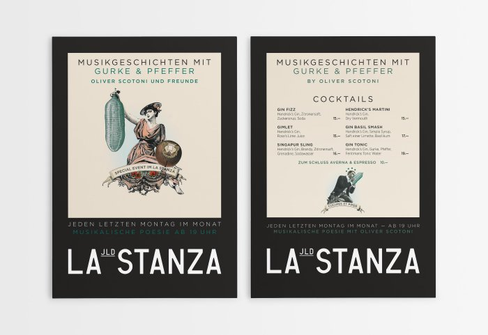 La Stanza Illustration Grafik Design