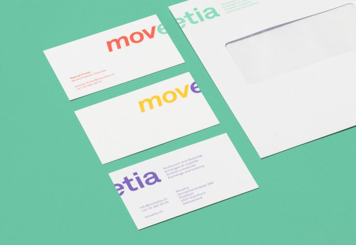 Different colours business cards