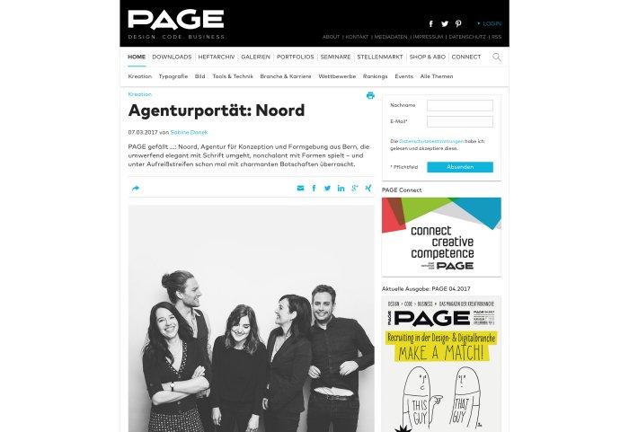 Page Online Noord Agenturporträit