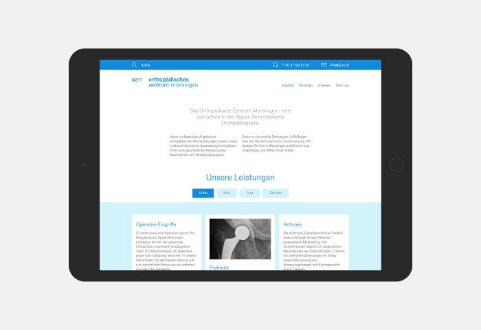OZM Website Gestaltung