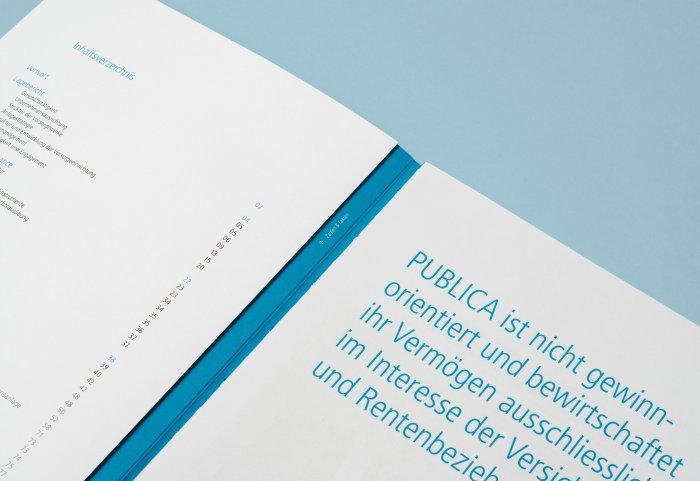 Publica Geschäftsbericht Umschlag
