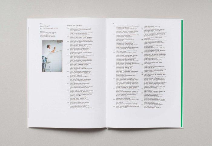 Editorial Design ROBERT MANGOLD Textseite