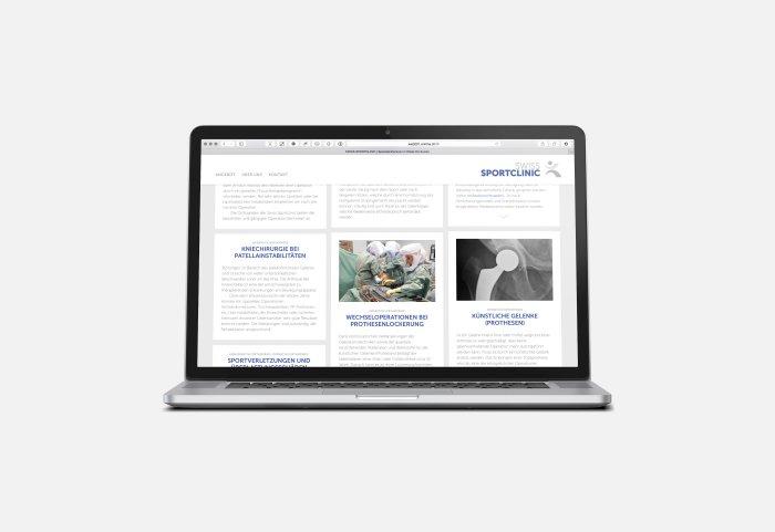 Swiss Sportclinic Responsive Website Cards
