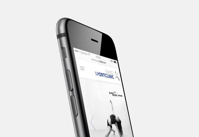 Swiss Sportclinic Responsive Website Mobile