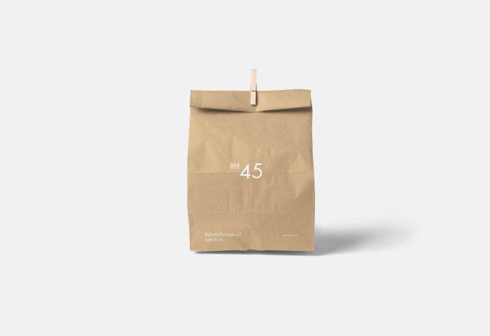 Bar 45 Paper Bag