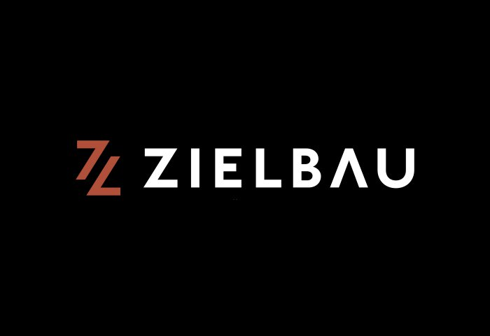 Zielbau AG Logo Wortmarke Corporate Design