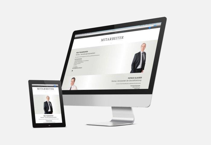 Responsive Webdesign FIDURIA Desktop NOORD