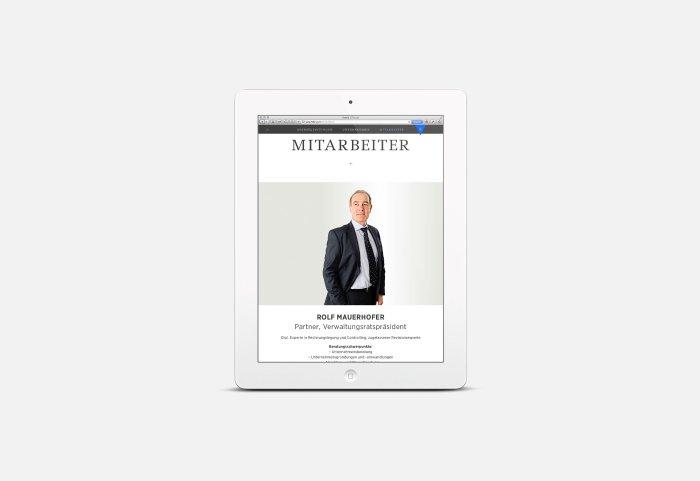 Responsive Webdesign FIDURIA Tablet
