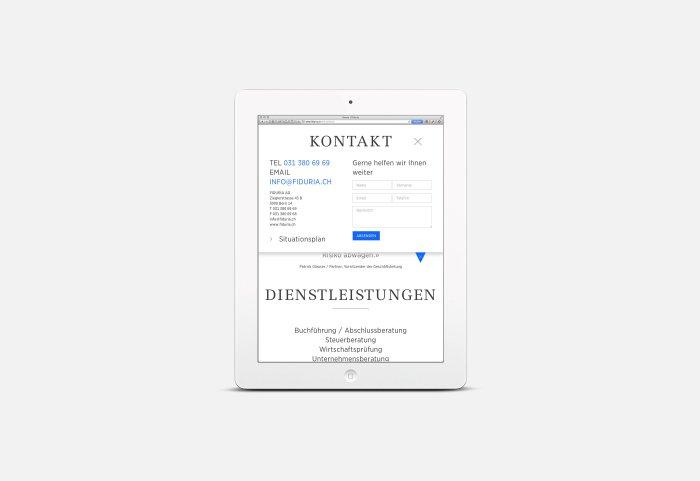 Responsive Webdesign FIDURIA Tablet NOORD