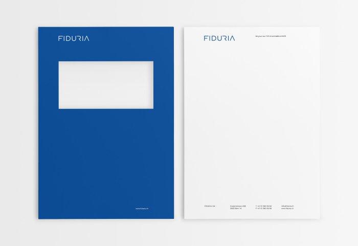Brief und Deckblatt FIDURIA
