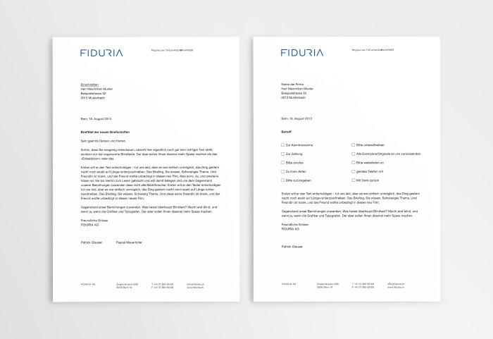 Briefpapier FIDURIA