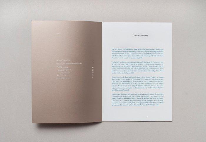 Editorial Unternehmensportrait ORELL FÜSSLI