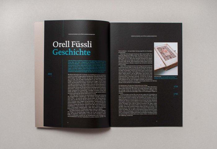 Tradition Unternehmensportrait ORELL FÜSSLI