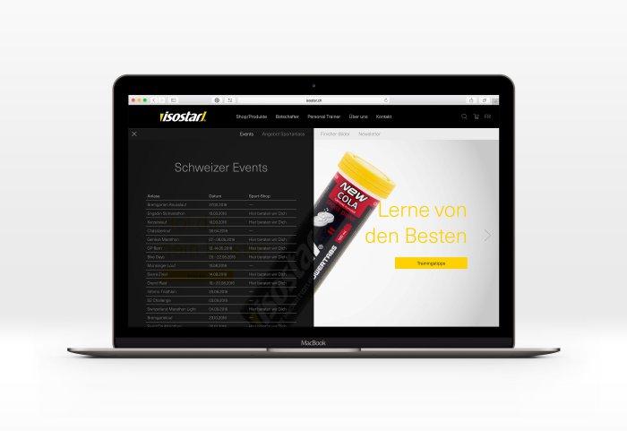 Isostar (Wander AG) Responsive Website