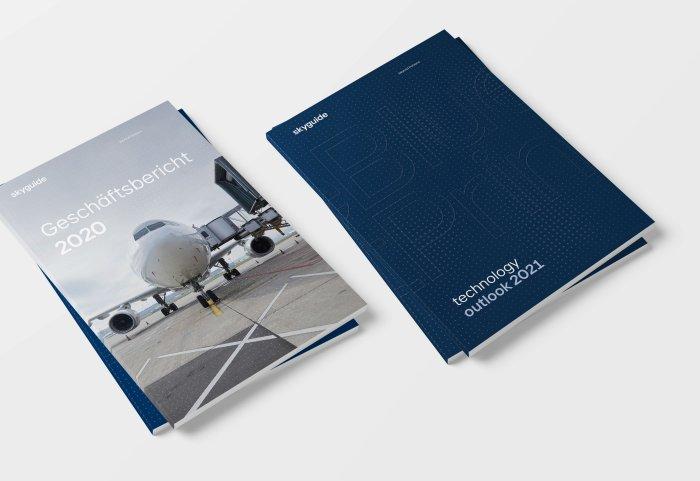 Skyguide Broschüre Corporate Design